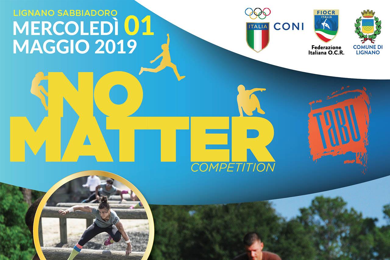 NO MATTER Competition corsa ad ostacoli a Lignano