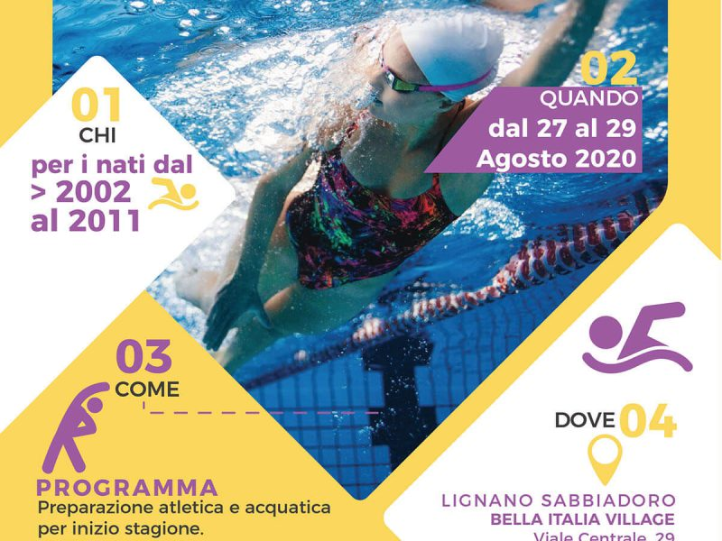 Campus Acquatico full immersion di nuoto per atleti agonisti a Lignano