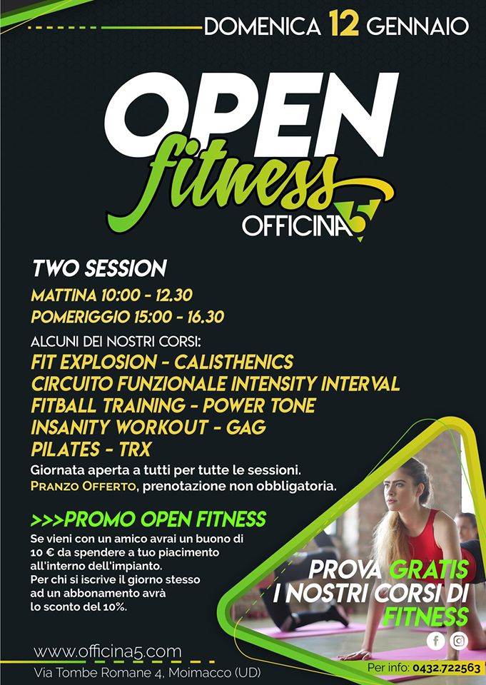 Open fitness day Officina5