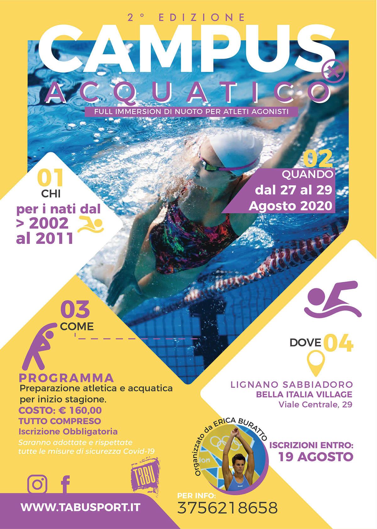Campus Acquatico full immersion di nuoto per atleti agonisti a Lignano
